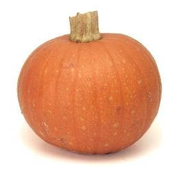 A sugar pumpkin - perfect for pies! image from Cook's Thesaurus