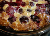 Cherry Clafoutis with Almond Crust