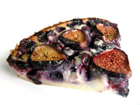 Fresh Fig & Blueberry Clafoutis