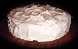 Mexican Dark Chocolate Torte with Honey Vanilla Marshmallow Icing