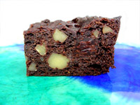 Dark Rum Walnut Brownies